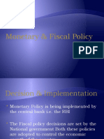 Monetary & Fiscal Policy