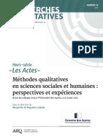 Recherches Qualitatives 18 Numero Complet