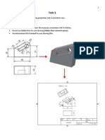 3.Task - Build 3D model and 2D drawing (including crossection view)