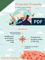 Aula de Geografia - Formação do Território Brasileiro