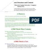 PhD Thesis Structure and Content