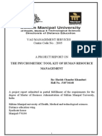 851 THE PSYCHOMETRIC TOOL KIT OF HUMAN RESOURCE MANAGEMENT