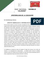 PRIMERA SEPARATA  DE  ESPISTEMOLOGIA DE LA EDUCACIÓN