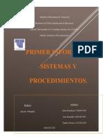 Conclusiones Sistemas y Procedimientos