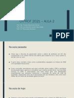 CFProf 2021 – Aula 2