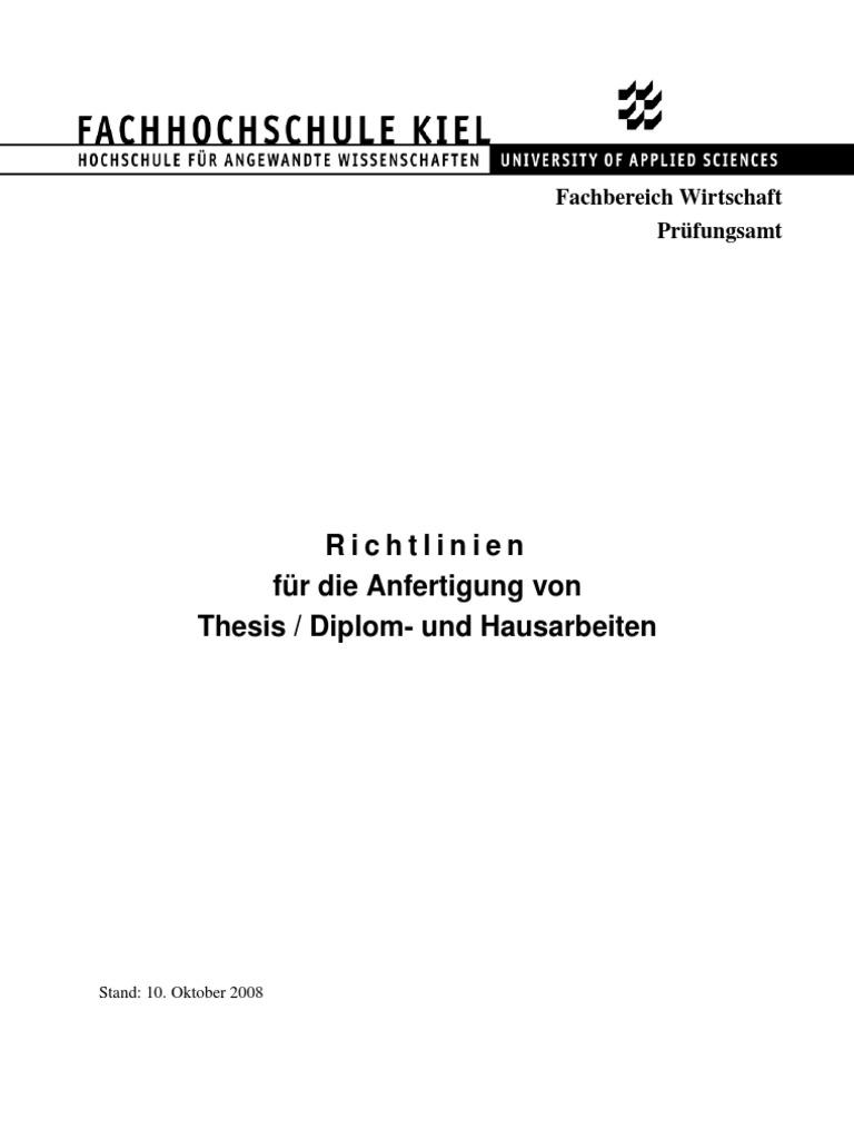 fh kiel thesis richtlinien