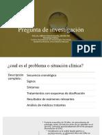 Presentación problemas en investigación
