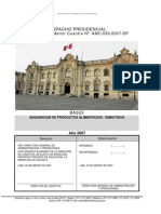 Bases para la adquisicion de alimentos (embutidos) en Palacio