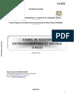 Document Sur Le Cadre de Gestion Environnementale Et Sociale (Cges)