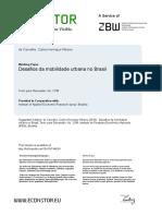 Artigo - Desafios Da Mobilidade Urbana No Brasil - IPEA - 2016