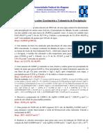 2019.2 - Lista de Execícios - Gravimetria e Vol. de Precipitação - com resolução parcial