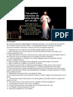 15 Oraciones Rebeladas a Santa Brígida