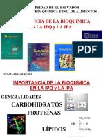 IMPORTANCIA DE LA BIOQUIMICA EN IPQ-2021