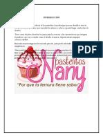 Pastelitos Nany ,Proyecto