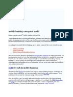 mobile banking conceptual model