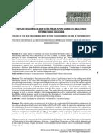 Políticas Educacionais Da Nova Gestão Pública No Peru%3a Os Docentes Na Cultura Da%0aperformatividade Educacional
