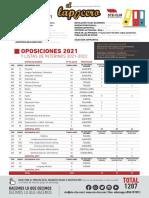 Díptico Oposiciones Castilla La Mancha 2021