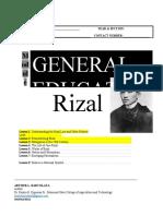 Module Rizal (Ge 9)