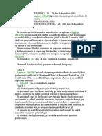 ORDONANTA DE URGENTA   Nr. 129 din  9 decembrie 2004