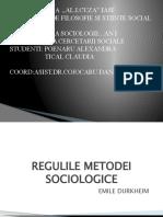 REGULILE  METODEI  SOCIOLOGICE