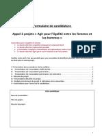 Formulaire de Candidature AAP Egalite Femmes Hommes 2021 2 FichierRemp