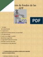 Devolución de fondos de las AFP