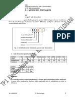 TP1 Mesure de resistances