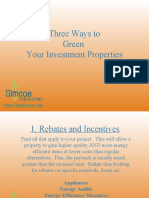Three Ways to Green Investment Property