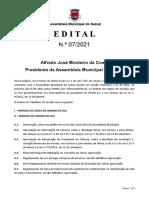 Ordem de Trabalhos e documentação - 2ª Sessão Ordinária 2021 (29/04/2021)