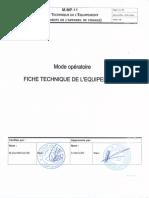 M MP 11 00 Fiche Technique de lequipement
