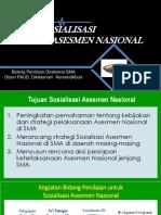 Paparan Informasi Sosialisasi Asesmen Nasional
