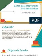 Proyectos Socio educativos.