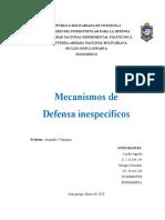 Mecanismos de defensa inespecificos