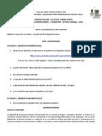 GRADO 6 - TEMA 3 - PRIMER TRIMESTRE (8 SEMANA) -  ÉTICA Y RELIGIÓN - LA DIGNIDAD HUMANA
