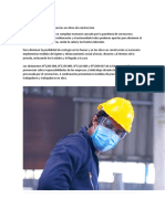 Contra el contagio de coronavirus en obras de construcción