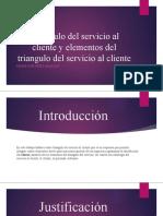 Triangulo del servicio al cliente y elementos del