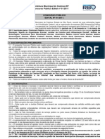 Caieiras -  Edital - CP01-2011