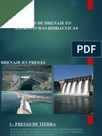 OBRAS DE DRENAJE EN ESTRUCTURAS HIDRAULICAS