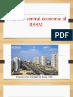 Chișinău- centrul economic al RSSM