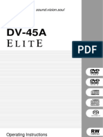 Pioneer DV-45A manual