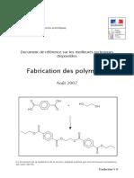 Fabrication Des Polymères