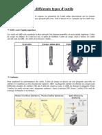 Les differents types d'outils