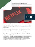 Cómo ver Netflix gratis (de manera legal, claro)pdf
