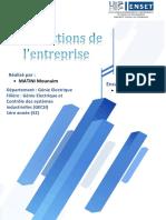 Les fonctions de l'entreprise (MATINI Mounaim-GECSI)