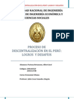 DESCENTRALIZACION EN EL PERÚ