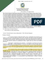 CI SEEDUC-SUGEN SEI nº 44-2020 - Retorno Regionais Bnadeira Amarela