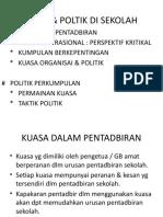 KUASA & POLTIK DI SEKOLAH