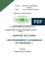 2020 21 Support de Cours Environnement Economique Et Financier