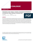 Pensions and Public School Teacher Retirement