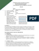 Sílabo de Lenguaje Academico
